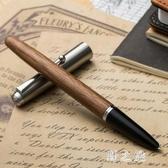 金豪鋼筆 木桿學生用辦公書寫練字特細銥金復古木質筆鋼筆男 美工彎頭成人 qz2942【野之旅】