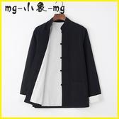 MG 唐裝-唐裝男漢服純棉外套中式中老年復古風古裝禪修居士服