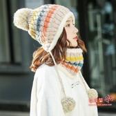 毛線帽 女秋冬季韓版潮百搭騎車防寒毛線帽冬天電動車保暖防風針織帽 6色
