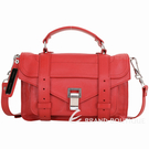 PROENZA SCHOULER PS1 Tiny 羊皮斜背/手提學院包 (紅色) 1440281-E4