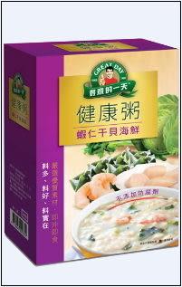 ●得意的一天健康粥-蝦仁干貝海鮮4入/盒【合迷雅好物超級商城】