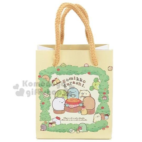 〔小禮堂〕角落生物 迷你方形手提紙袋《黃綠.蘋果樹》包裝袋.送禮紙袋.手提袋 4714551-87535