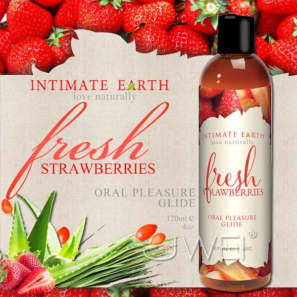 傳說情趣~美國Intimate-Earth.Fresh Strawberries 果味口愛潤滑液-草莓 (120ml)