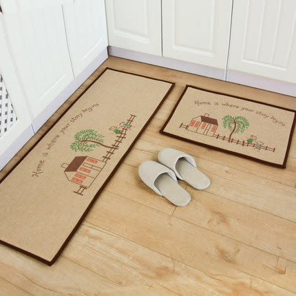 可愛創意地墊 廚房浴室客廳吸水長條防滑地毯 40*120cm