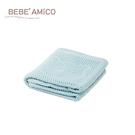 鏤空編織透氣好眠毯(蘋果熊)-藍