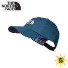 【The North Face 快乾棒球帽《蒼藍》】CF7W/防曬透氣運動帽/鴨舌帽/遮陽帽/卡車帽