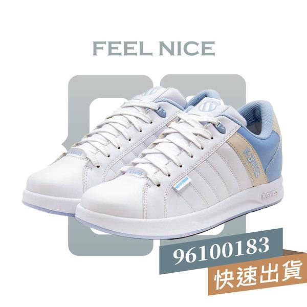 K-SWISS LUNDAHL WP 白藍 女 防水 簡約 穿搭 運動 休閒鞋 96100183
