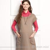 【ohoh-mini孕婦裝】典雅立體OL短袖寬版哺乳洋裝