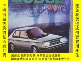 二手書博民逛書店1984年罕見美國 道奇 DODGE OMNI轎車 汽車樣本 彩