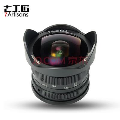 七工匠 7.5mm F2.8 for M43 微單鏡頭 黑色