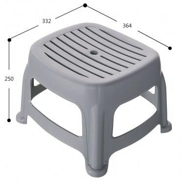 KEYWAY 花園止滑椅 高25CM 灰色款 RC6654