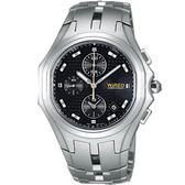 【僾瑪精品】WIRED 街頭風暴三眼計時腕錶-黑/40mm/7T92-X143D(AF8L87X)