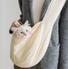 寵物外出包 寵物背包帆布單雙肩出門便攜貓書包狗背包寵物用品TW【快速出貨八折下殺】