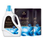 《台塑生醫》BioLead經典香氛洗衣精 天使之吻*(1瓶+2包)