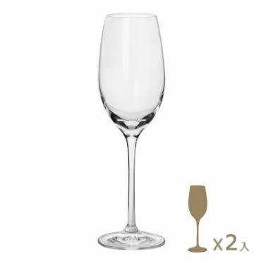 義大利RCR茵芙曼無鉛水晶香檳杯2入290cc