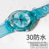 手錶女學生韓版簡約個性hello 薄荷綠防水氣質淑女可愛軟妹森女錶【萊爾富免運】