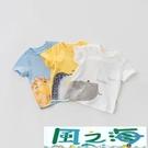 兒童短袖上衣男童純棉T恤寶寶卡通童裝小童短袖打底衫上衣潮夏季 風之海