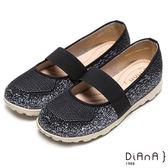 DIANA 輕。愛的--超輕量韻律雙色漸層繃帶樂福鞋-黑★特價商品恕不能換貨★