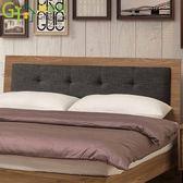 【綠家居】藍柏蒂 時尚6尺棉麻布雙人加大床頭片(不含床底)