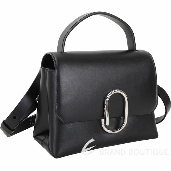 3.1 Phillip Lim Alix 金屬迴紋針造型手提肩背包(黑色) 1930342-01