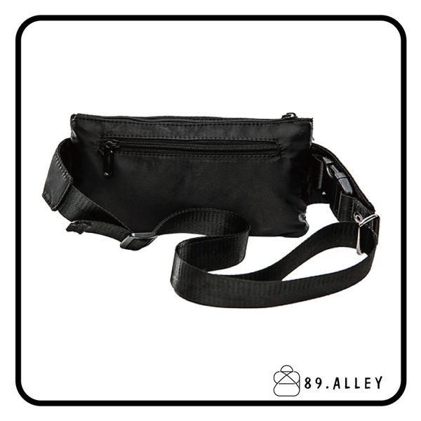 腰包 單肩包 女包男包 黑色系防水包 輕量尼龍多層情侶防搶包 89.Alley ☀1色 HB89141