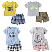 嬰幼兒短袖套裝 男童上衣+短褲 baby套裝 童裝 LZ20314好娃娃