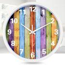 時尚簡約掛鐘客廳臥室辦公室時鐘靜音卡通現代創意掛錶石英鐘   IGO
