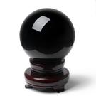 開光純天然黑曜石水晶球擺件黑色水晶球鎮宅...