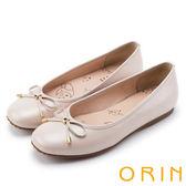 限時特賣-ORIN 時尚甜心 經典細帶蝴蝶結平底娃娃鞋-粉紅