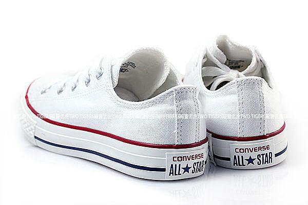 CONVERSE ALL STAR 白色 低筒 鞋帶 基本款帆布鞋 中大童 NO.Q5831