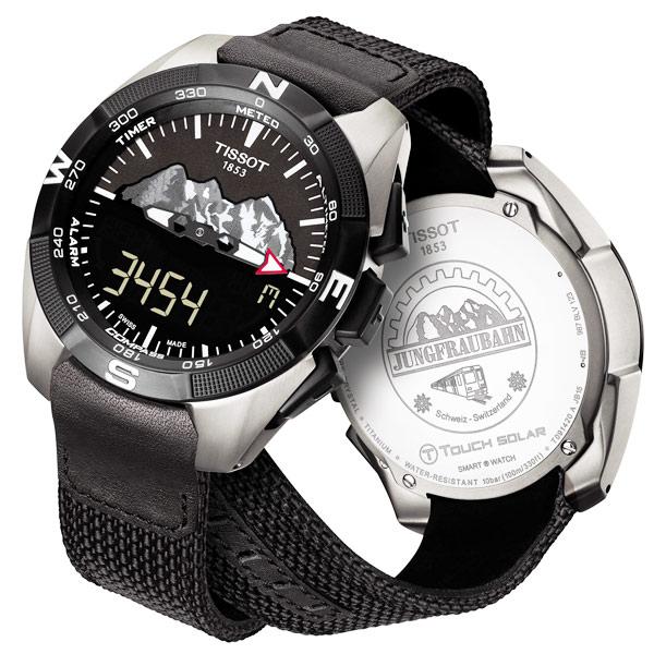 TISSOT 天梭 T-TOUCH EXPERT 太陽能觸控腕手錶-黑/45mm T0914204605110