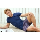 【HENIS】天然純棉型男平織平口褲6件組 隨機取色