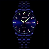 2020新款商務男錶防水夜光雙日歷時尚鑲鉆多功能手錶鋼帶男士腕錶 酷男精品館