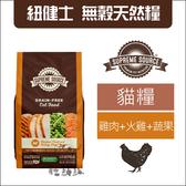SUPER SOURCE紐健士[雞肉+火雞+蔬果無穀貓糧,11磅]產地:美國