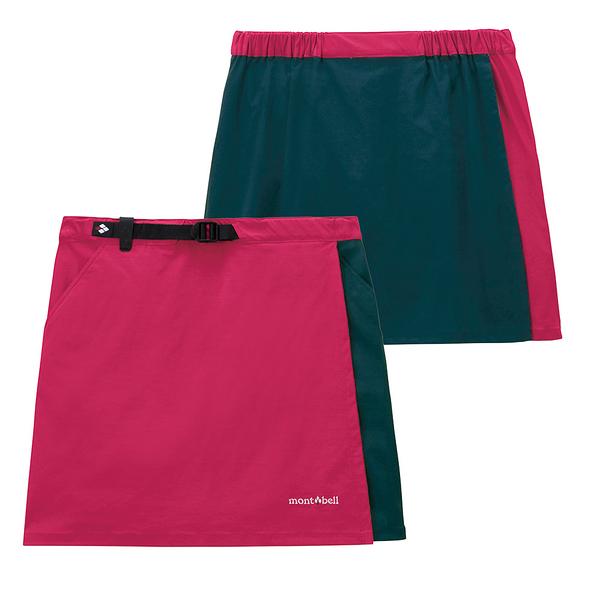 [好也戶外]mont-bell STRETCH OD WRAP SHORTS褲裙 鮮紅/墨綠 No.1105583-SG/DT