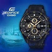 CASIO 手錶專賣店 卡西歐 EDIFICE EFR-556PB-1A 三眼計時男錶 樹脂錶帶 黑 防水100米