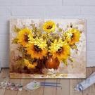 diy數字油畫花卉手工填色減壓畫手繪裝飾...