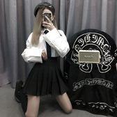 2019春百褶裙抖音仙女裙子包臀chic短裙蛋糕高腰夏a字牛仔半身裙