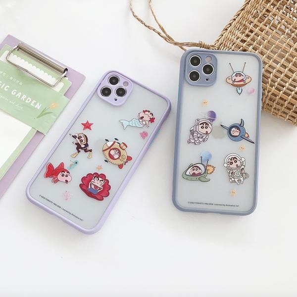 iPhone12 蘋果手機殼 預購 可掛繩 美人魚+太空人蠟筆小新 矽膠軟殼 i11/iX/i8/i7/SE