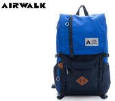 【橘子包包館】AIRWALK 現代寧采臣3D LOGO書生後背包 A615321082 藍色