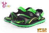 GP涼鞋 中大童 磁扣兩穿防水涼鞋 I6828#黑綠◆OSOME奧森鞋業