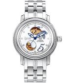 Ogival 愛其華 現代《愛情魚》真鑽心跳機械腕錶-銀 358-2ADGFS白