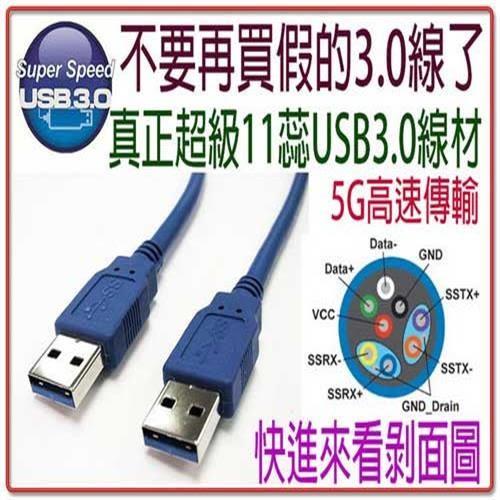 i-wiz USB 3.0 A公-A公高速傳輸線 100cm