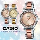 CASIO卡西歐  閃耀璀璨雙色錶帶石英女錶 LTP-E120RG-9A/LTP-E120SG-9A