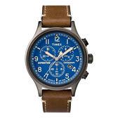 TIMEX 天美時 三眼計時 手錶(TXTW4B09000) 深藍面