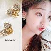 925純銀針  韓國優雅氣質 愛心亮片 耳環-維多利亞190560
