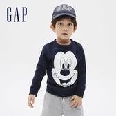 Gap男幼童 Gap x Disney 迪士尼系列薄絨長袖休閒上衣 617851-海軍藍