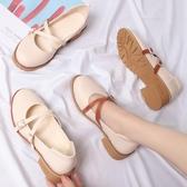日繫娃娃鞋瑪麗珍鞋平底圓頭小皮鞋森女復古淺口女鞋單鞋 初秋新品
