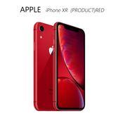 APPLE iPhone XR (PRODUCT)RED 128GB~送滿版玻璃保護貼+無線充電10000mAh行動電源+軍規保護殼