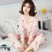 睡衣 睡衣女夏季薄款長袖純棉綢人造棉睡衣短袖套裝女家居服